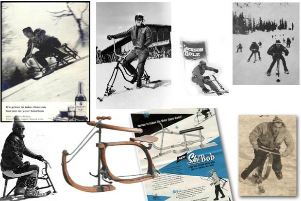 El Ski-Bob es un invento vintage de mucha actualidad aún. Montaje con imágenes de archivo