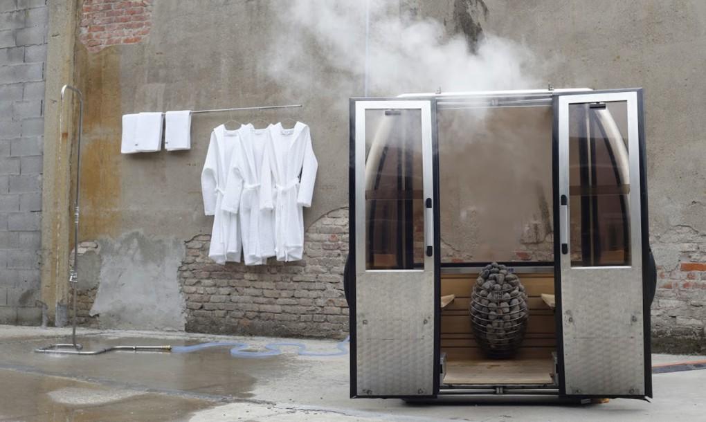 Las viejas cabinas de la estaci n suiza de engelberg - Calentador para sauna ...