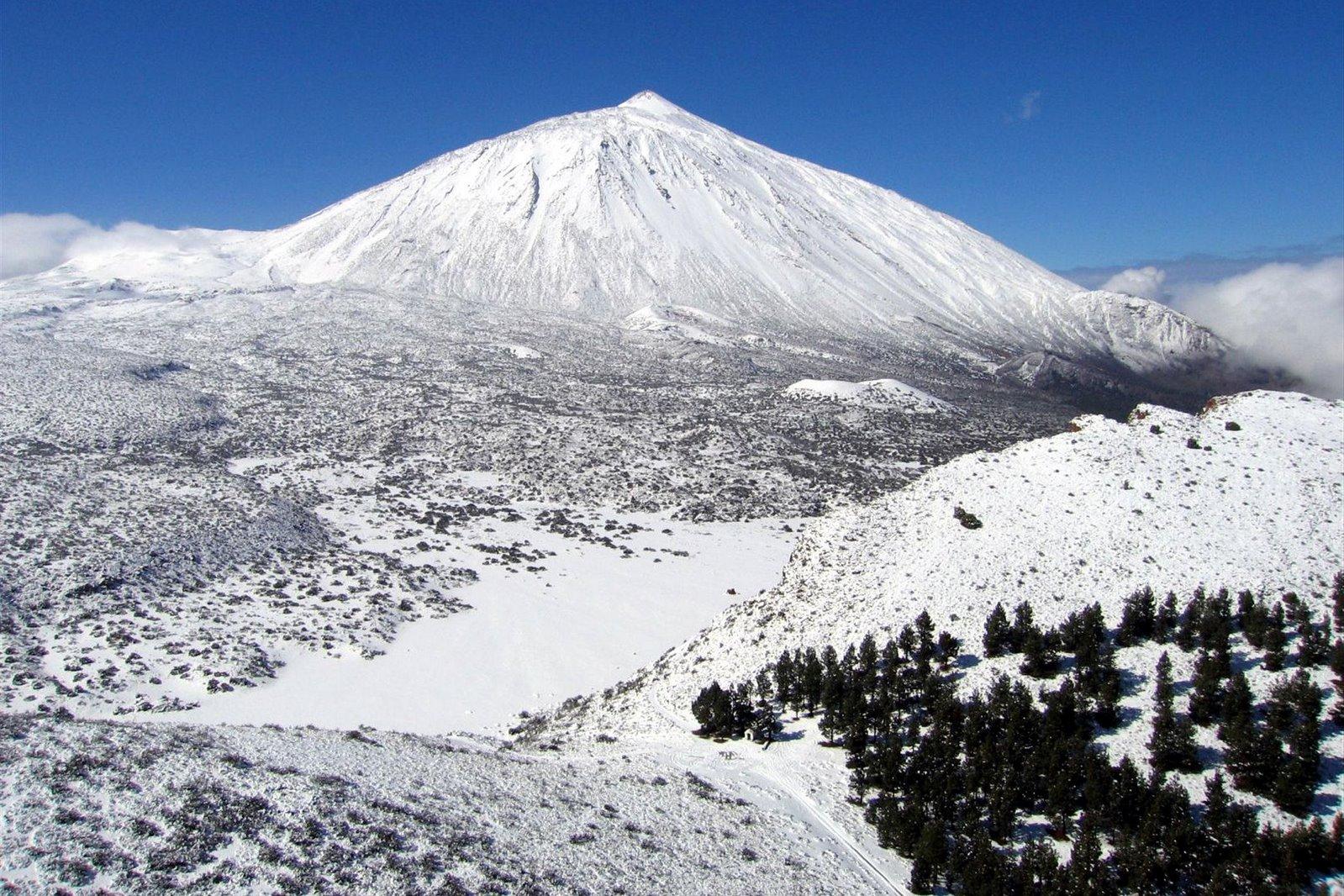 Resultado de imagen de teide nevado