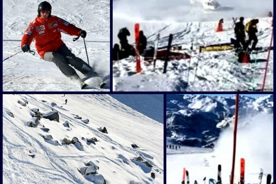 Resultado de imagen de Accidente michael schumacher nieve