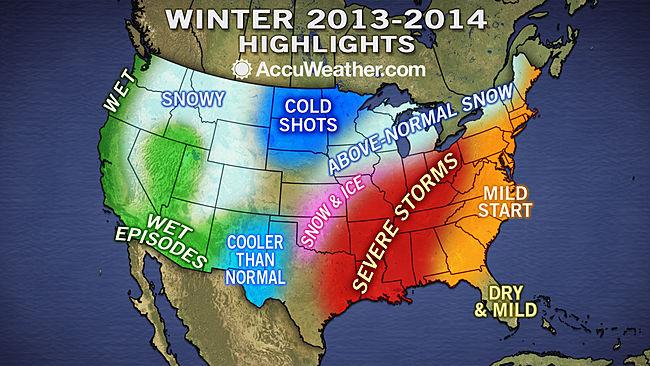 Como ser el invierno 2013 14 en ee uu seg n accuweather for Pronostico del tiempo accuweather