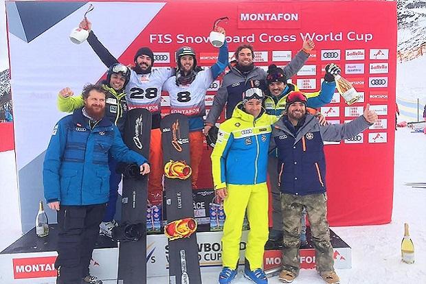Victoria de Regino Hernández y Lucas Eguibar en Copa del Mundo SBX por equipos en Montafon