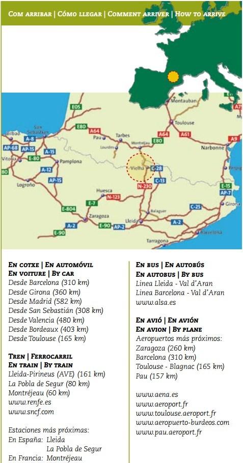 Mapa e información de la Val d'Aran