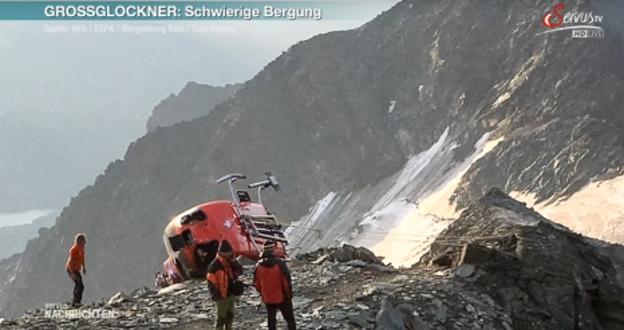 Dramático vídeo de un accidente de un helicóptero de rescate en Austria