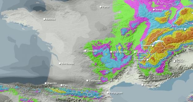 Previsión Fin de Semana: Ola de Frío y nevadas en los Alpes, nieve en la Península