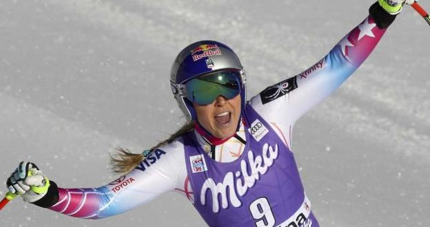 ¡La reina está en forma! Lindsey Vonn gana en Cortina el descenso número 40 de su carrera
