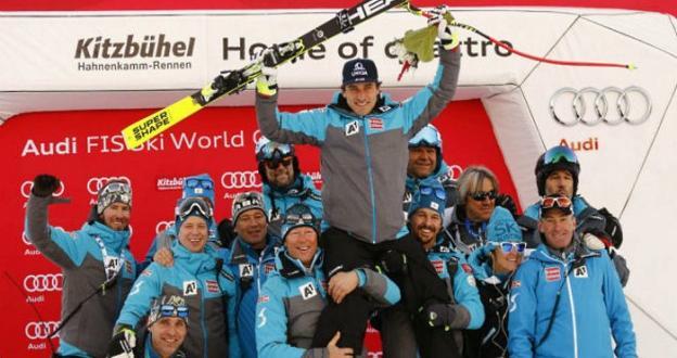 Mayer se impone en el super-G de Kitzbühel la víspera del descenso del Hahnenkamm