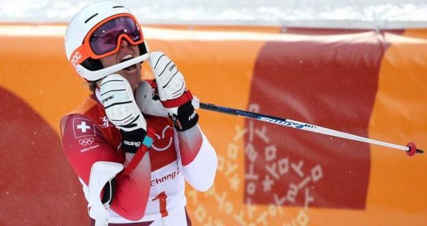 Michelle Gisin gana la combinada de esquí en los JJ.OO. ante la decepción de Vonn que se salió del trazado