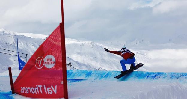 Gran podio de Lucas Eguibar en la Copa del Mundo FIS Snowboard Cross de Val Thorens