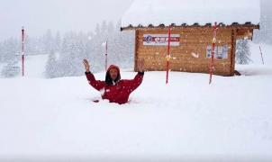 """El """"paquetón"""" de Ana deja casi tres metros de nieve en los Alpes"""