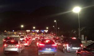 Nuevo Fin de Semana de colas interminables en la Cerdanya: 3 horas del túnel del Cadí a Berga
