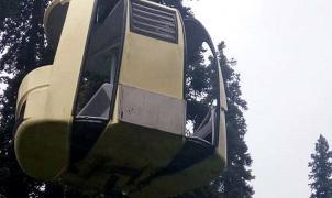 La caída de un telecabina en la India provoca 7 muertos. Rescatan a 150 personas atrapadas