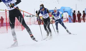 Sara Pellegrini y Jean Tiberghien reyes en Persecución de las Finales OPA Cup FIS en Beret