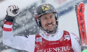 Un Hirscher imperial vence a la nevada y a sus rivales en el SL de Val d'Isère