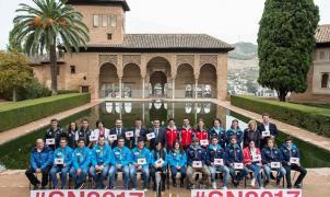 RFEDI presenta a la Armada Española de la nieve en los Jardines de la Alhambra