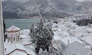 Una ola de frío y nieve invade Grecia y sus islas