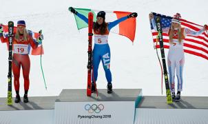 Sofia Goggia oro en el descenso, Lindsey Vonn se convierte en la medallista femenina más antigua