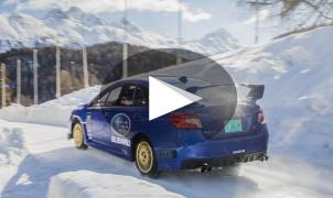 Un Subaru WRX STI bajó como un trineo dentro del circuito de bobsleigh de St. Moritz
