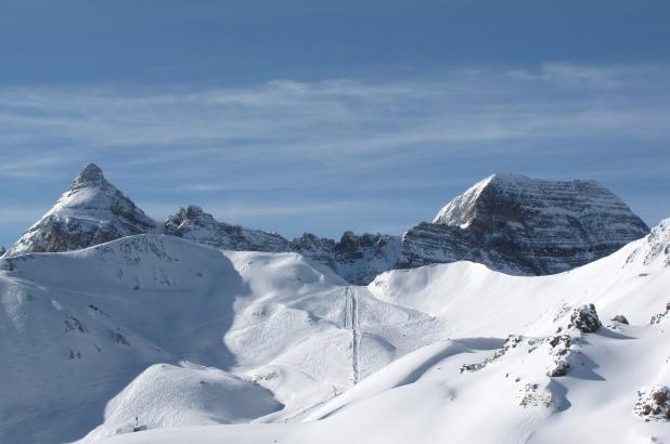 Imagen de las montañas nevadas de Formigal