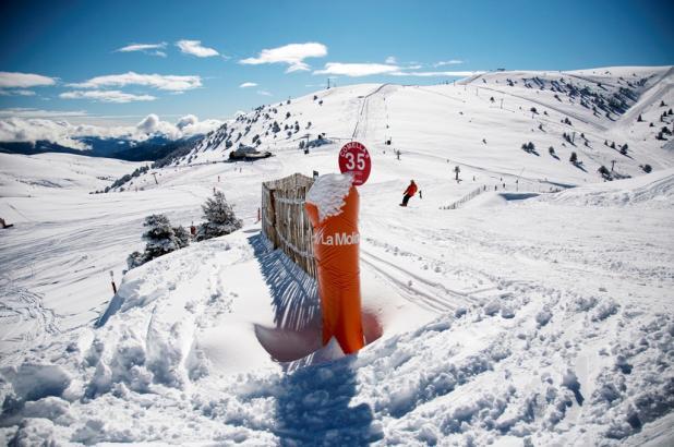 Imagen de la estación de esquí de La Molina Pista La Comella