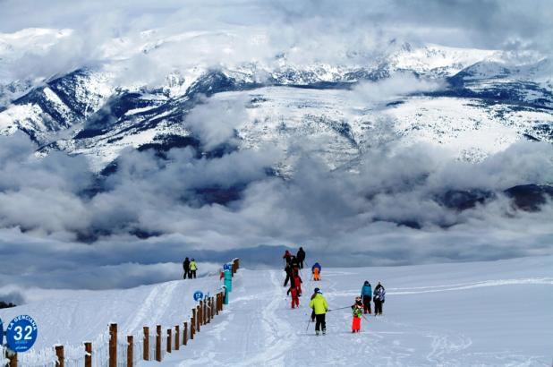 Imagen de la estación de esquí de La Molina Pista La Genciana