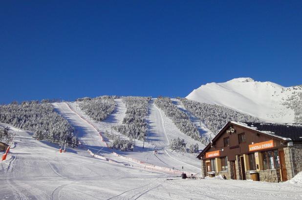 Aspecto después de una nevada en Espot Esquí
