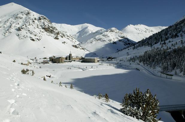 Imagen de la estación de esqui de Vall de Nuria