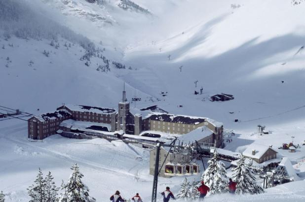 Gran día de nieve en Vall de Núria
