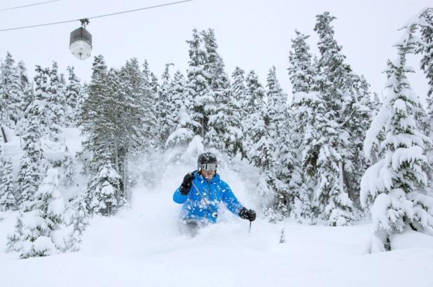 Imagen de la nevada en Whistler ne diciembre del 2012, 327 cm acumulados