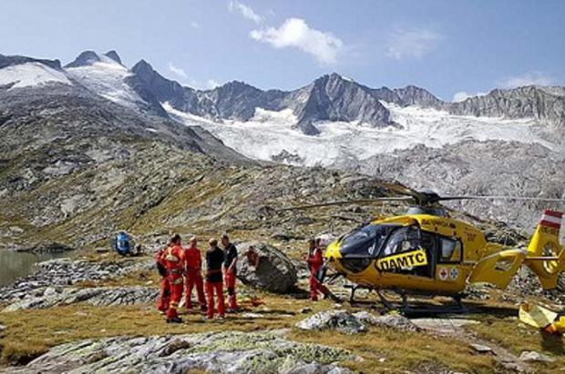 5 alpinistas muertos en un accidente de cordada en un glaciar austriaco