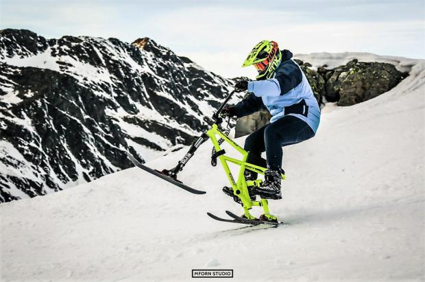 """Snowtrike: La alternativa en la nieve para los no quieren dejar sus """"bicis"""" en invierno"""
