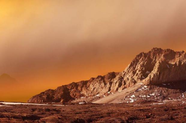 Nieve en Marte, esquiar en el planeta rojo