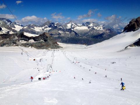 Zermatt glaciar, esqui de verano Agosto 2013