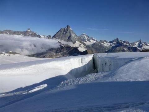 Grieta en el glaciar de Zermatt
