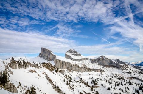 Los icónicos picos de Leysin Tour de Aï y Tour de Mayen
