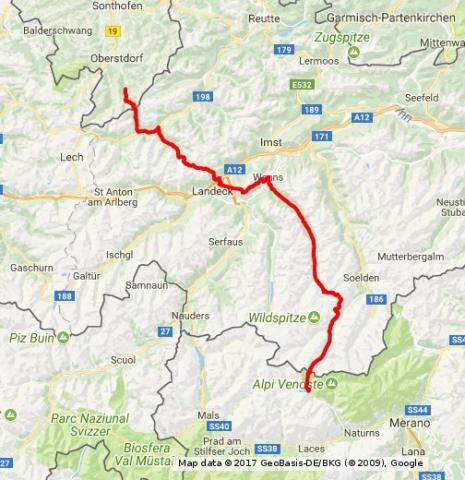 Ruta E5 sobre Los Alpes