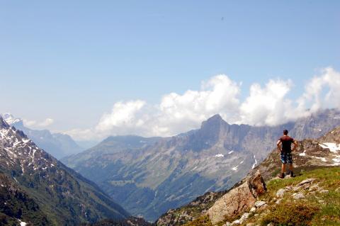 Montañas en el sustenpass