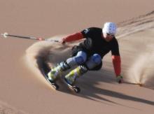 Sand Skiing: Esquí en las dunas de arena de Namibia