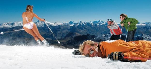 Semana de esquí de verano en el glaciar de Tignes
