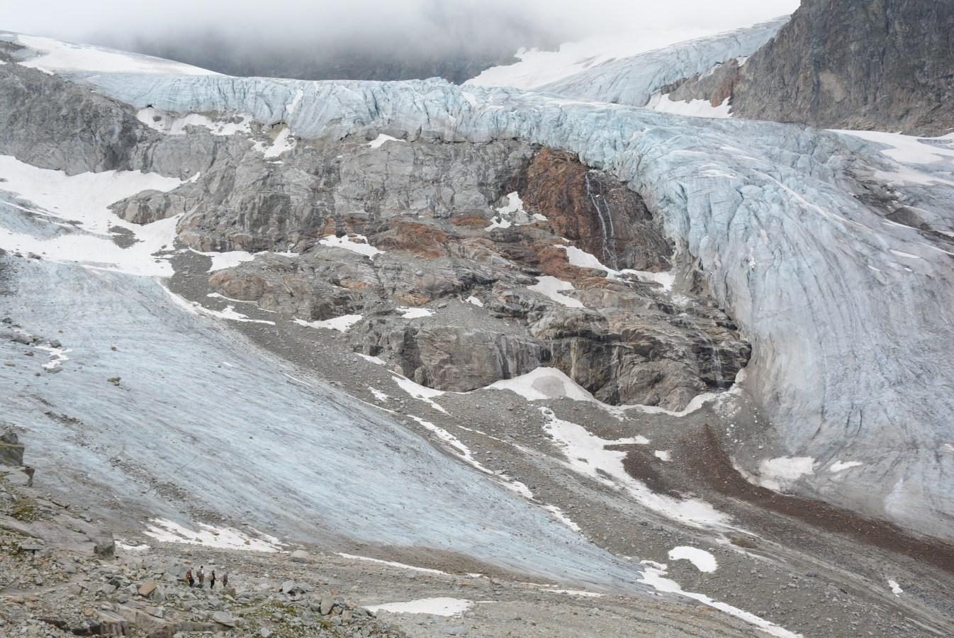 glaciar en el Piz Buin
