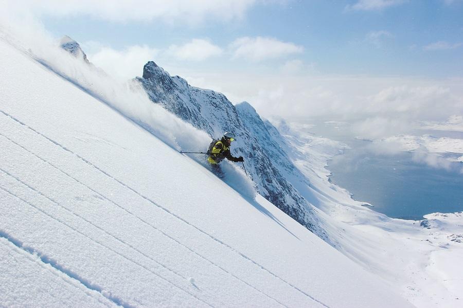 El descenso Revelation, uno de los favoritos del autor, en la zona de Kaangaamiut, Groenlandia