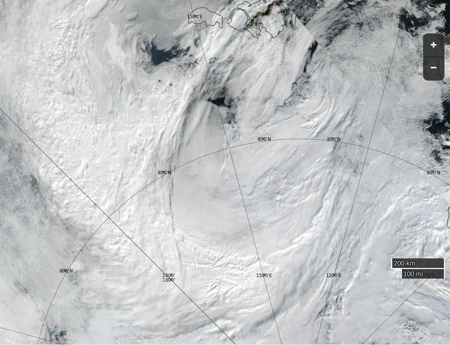 toma aerea del ciclon de 2016