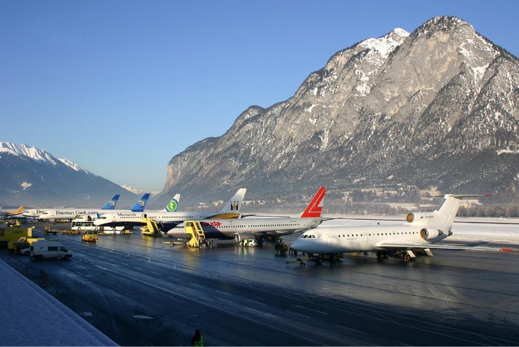 Imagen del aeropuerto de Innsbruck, fuente Wikipedia