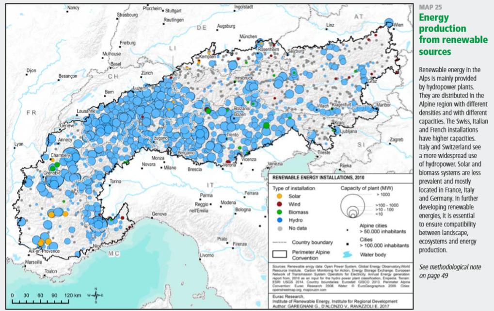 Uso de energías renovables en los alpes