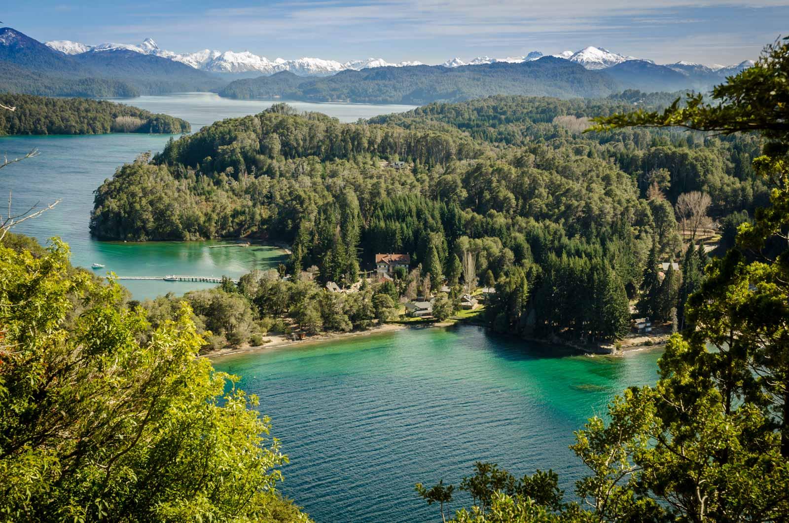 colores del agua en Patagonia