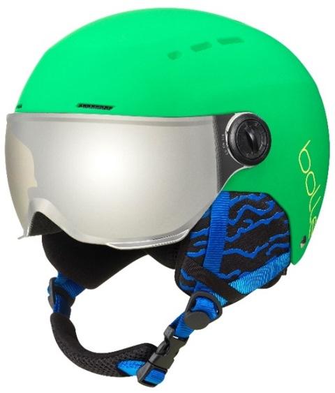 1295c4b926 QUIZ VISOR es el primer casco de visera junior de Bollé. La cubierta dura de  ABS resistente se encuentra en la parte superior de un forro EPS para  brindar ...