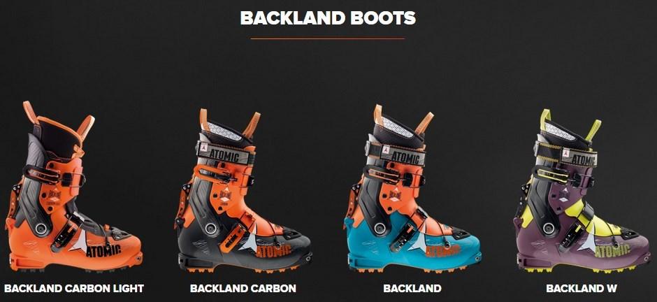 Gama de botas Backland 2015 Touring Series de Atomic