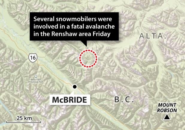 Gráfico de la zona de Mc Bride, BC. Fuente: cbc.ca