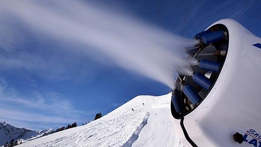 cañón de nieve