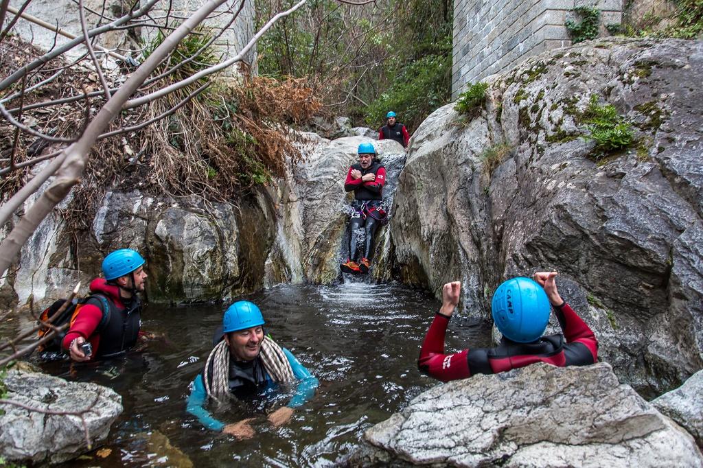 Canyoning en las Aguas Calientes de Thués Les Bains (Pirineo Oriental)